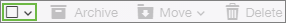 Image of the Select All icon in Yahoo Mail.